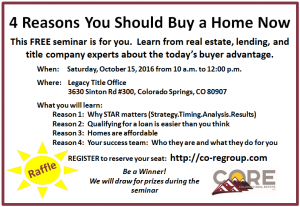4 Reasons You Should Buy a Home Now – Seminar