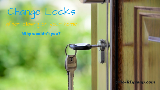 change locks after closing on a home